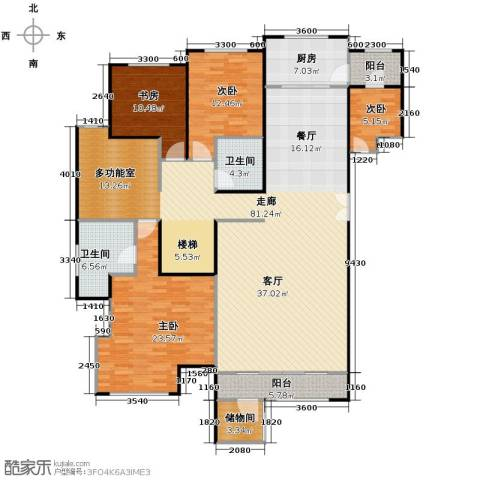领秀・翡翠山4室2厅2卫0厨163.01㎡户型图
