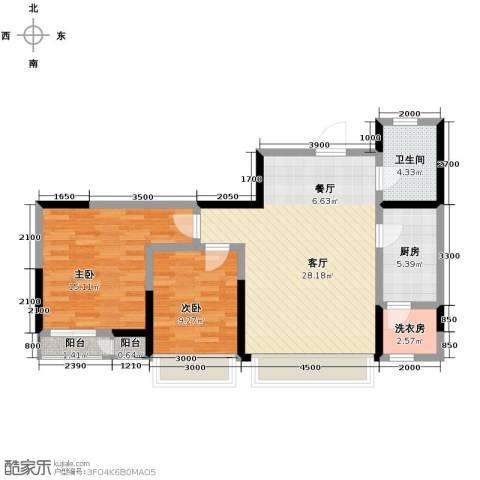 格调艺术领地2室2厅1卫0厨92.00㎡户型图
