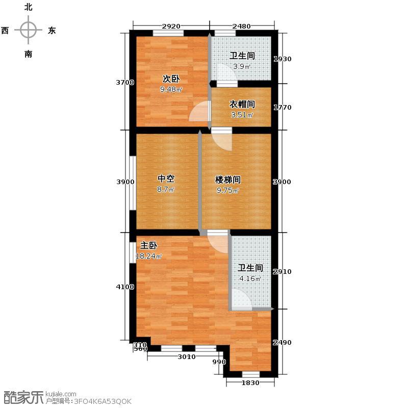 首创玲珑墅181.00㎡ED二层户型10室