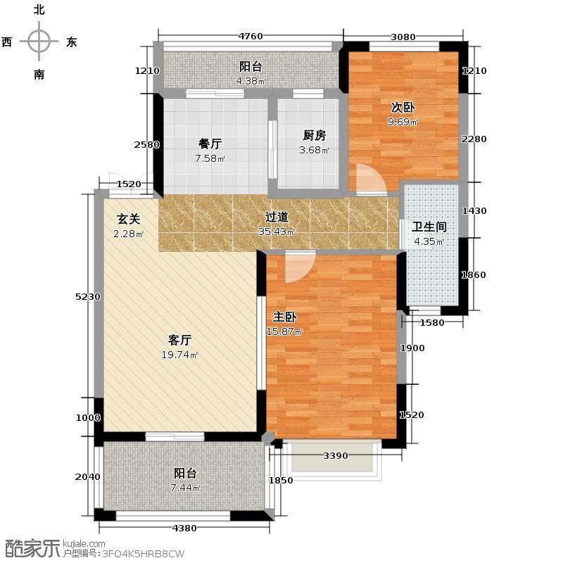 中城丽景香山92.35㎡户型10室