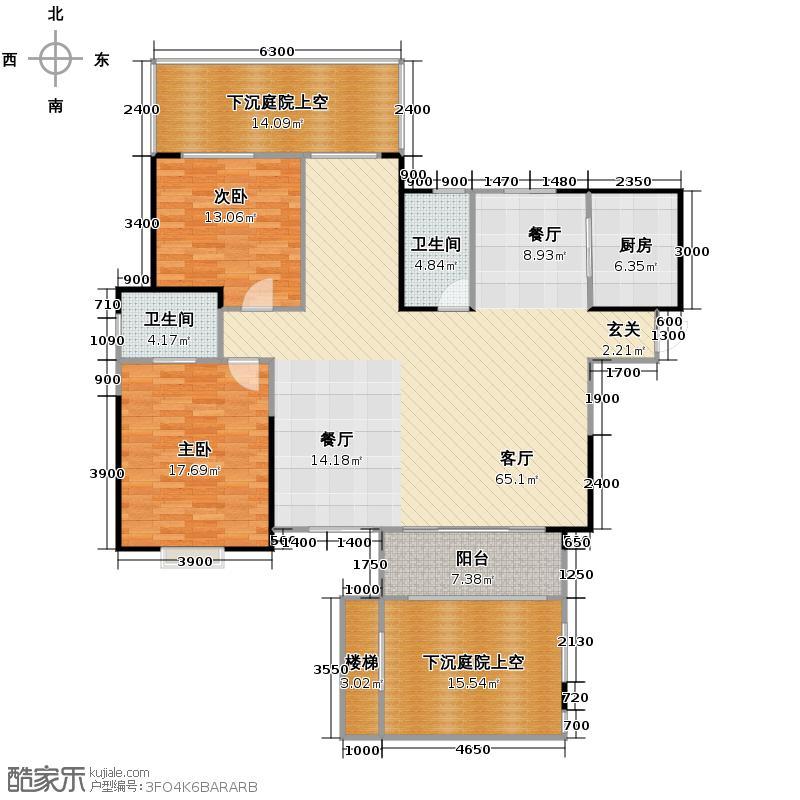 置信国色天乡鹭湖宫5号社区298.00㎡C型赠送一层户型10室