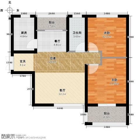 利君未来城2室2厅1卫0厨95.00㎡户型图