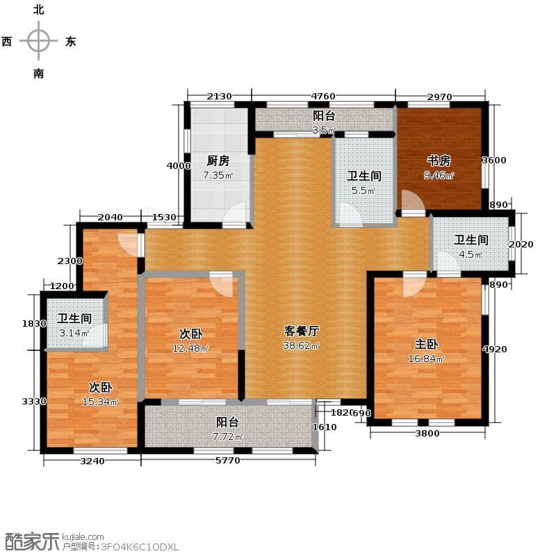 绿城紫桂公寓165.00㎡户型10室