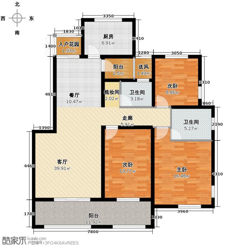 中冶圣乔维斯123.32㎡18号-3-1户型10室