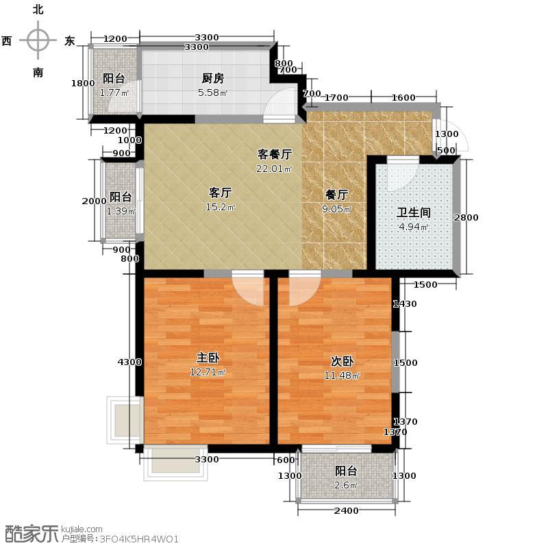 心源家园92.49㎡户型10室