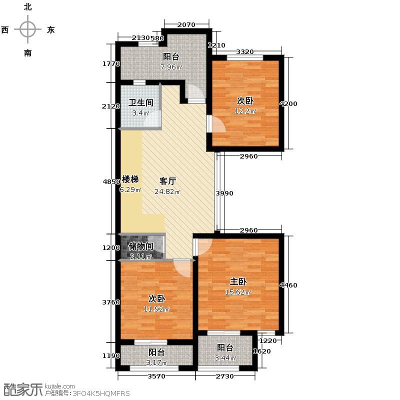 卓越蔚蓝海岸322.00㎡别墅18#102二层户型5室3厅3卫