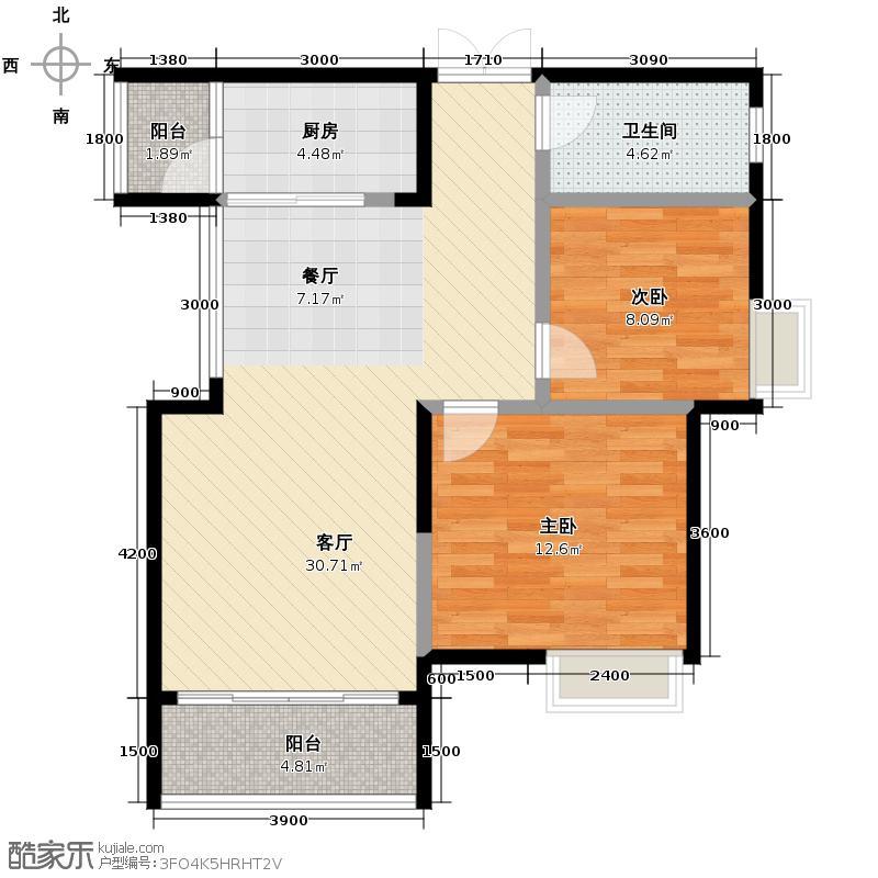 金科廊桥水岸76.21㎡5号楼2号房户型10室