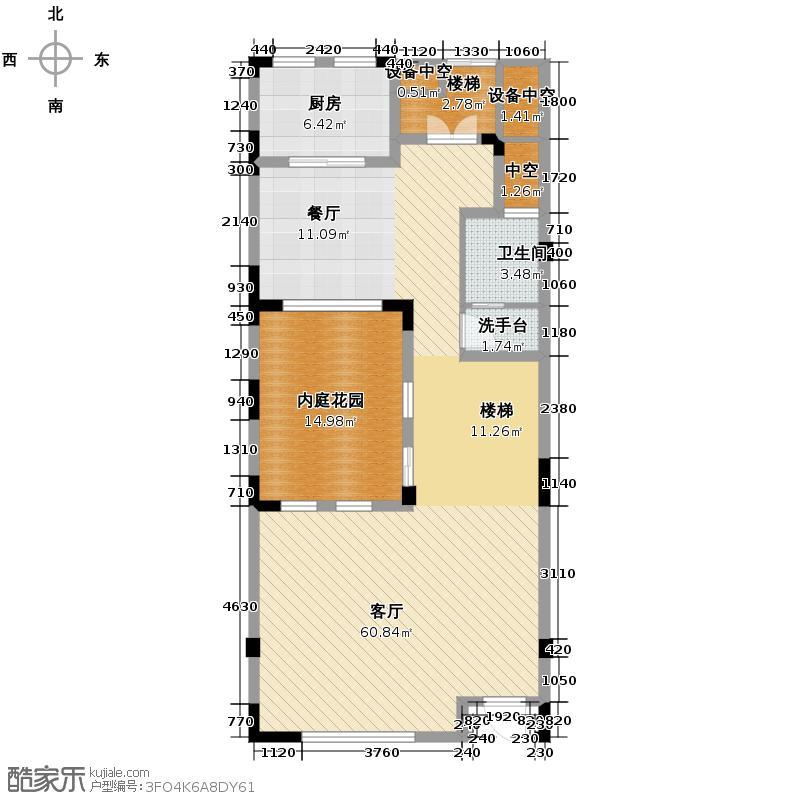 棕榈湖国际社区239.00㎡c型负一至三层平面图户型10室