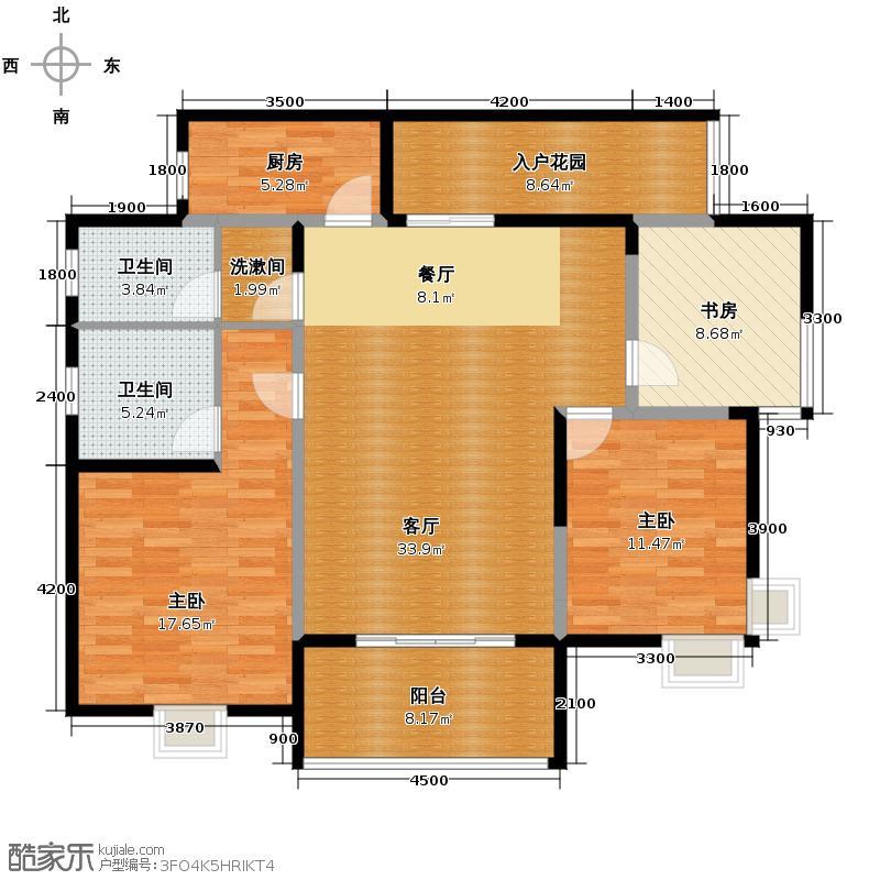 新兴北京御园117.58㎡户型10室