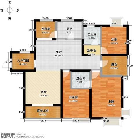 世茂生态城3室2厅2卫0厨140.00㎡户型图
