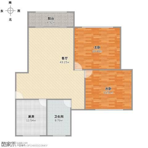 古美西路420弄小区2室1厅1卫1厨146.00㎡户型图