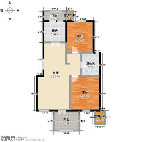 万通生态城新新家园2室2厅1卫0厨108.00㎡户型图