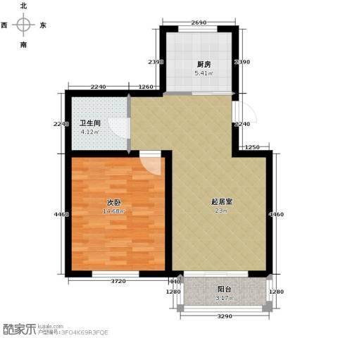 翰林雅苑1室1厅1卫0厨65.00㎡户型图