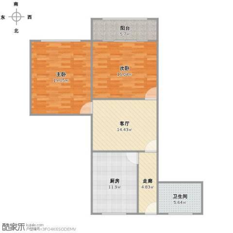 潼港六村2室1厅1卫1厨104.00㎡户型图