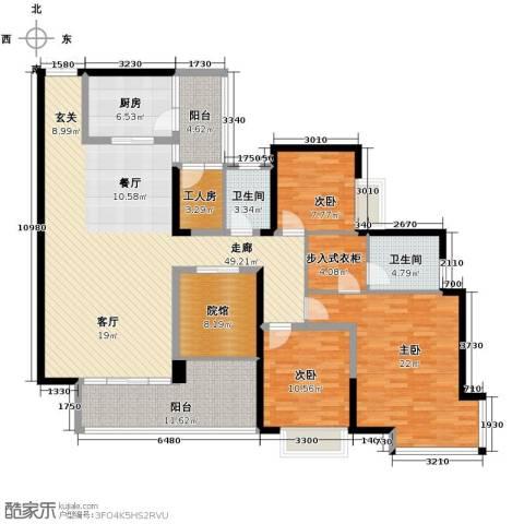 骏逸・第一江岸3室0厅2卫1厨194.00㎡户型图