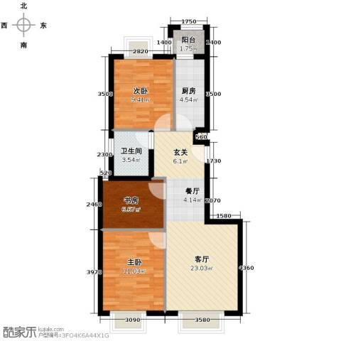天恒乐活城D53室2厅1卫0厨89.00㎡户型图