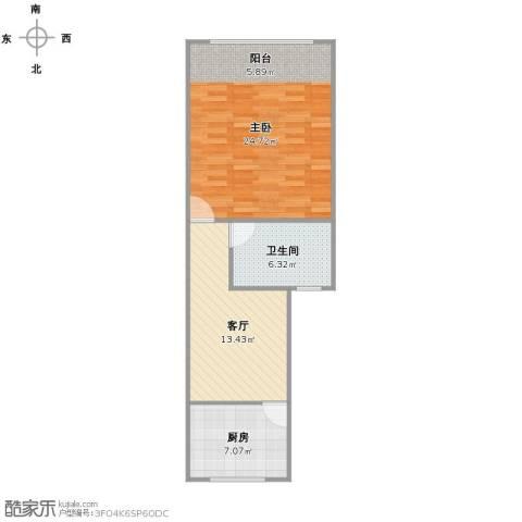 奎照路790弄小区1室1厅1卫1厨69.00㎡户型图