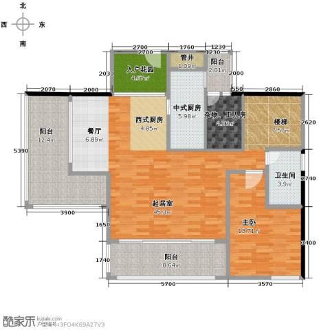 长江楚韵4室2厅2卫0厨229.00㎡户型图
