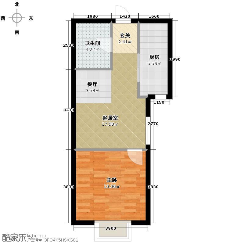 橙堡59.74㎡户型10室