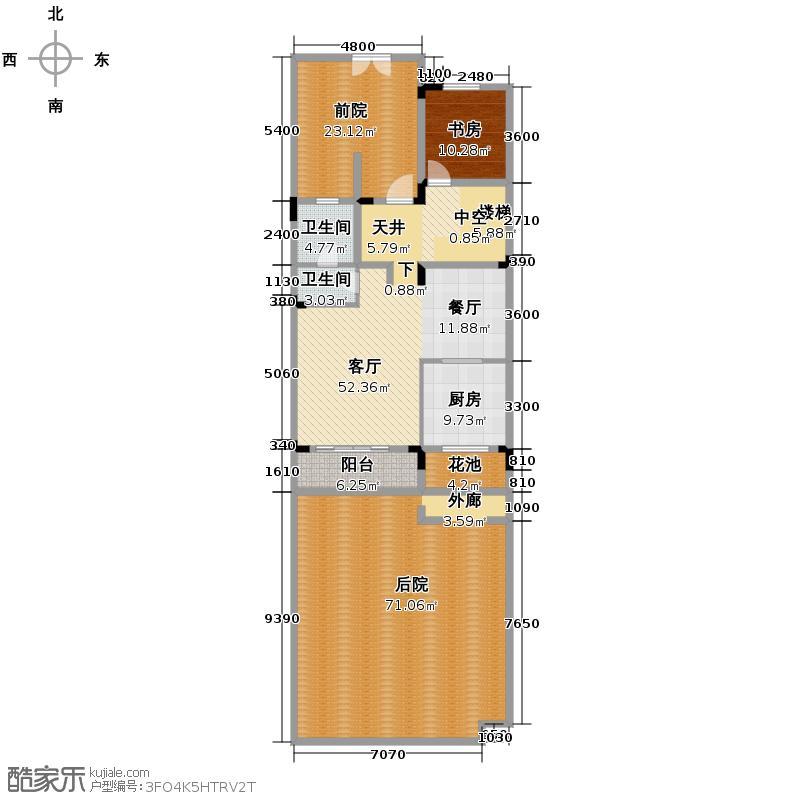 金科东方大院243.94㎡J一层平面图户型10室