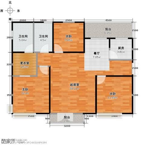 天地源津九轩3室2厅2卫0厨137.00㎡户型图