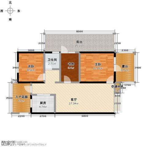 四季风情3室2厅1卫0厨92.00㎡户型图