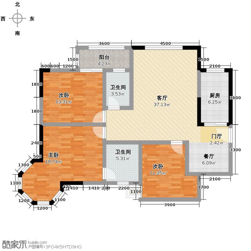 锦绣世纪114.41㎡二期户型10室