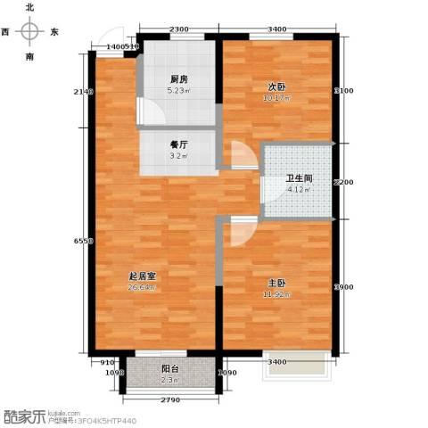 四季风情2室2厅1卫0厨88.00㎡户型图