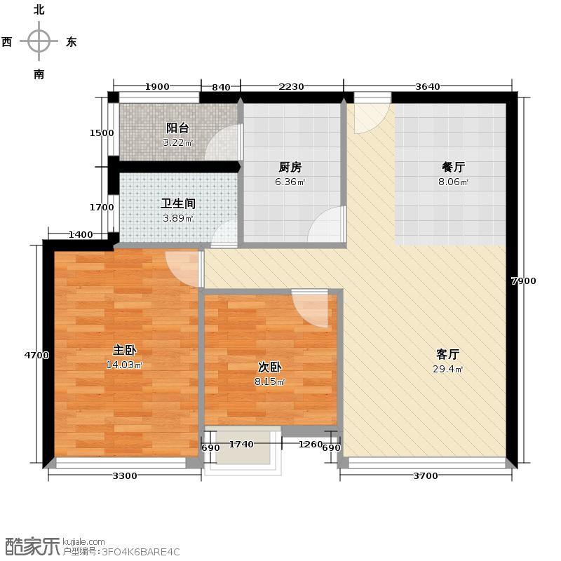 渤海新世界72.44㎡宝升昌广场户型10室