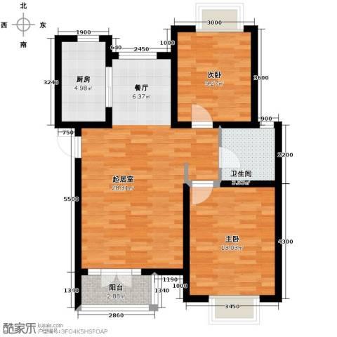 香水湾2室2厅1卫0厨88.00㎡户型图