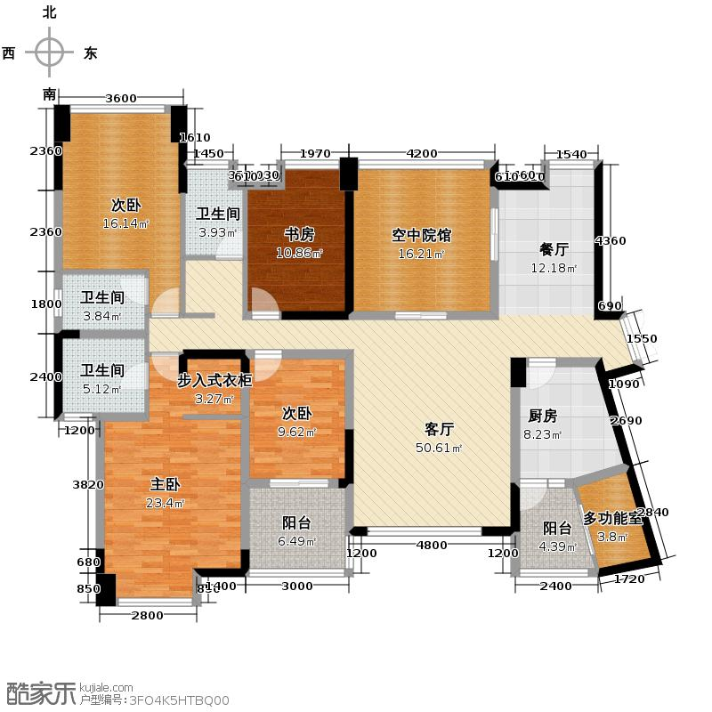 金科廊桥水岸186.07㎡18号楼3号房户型10室