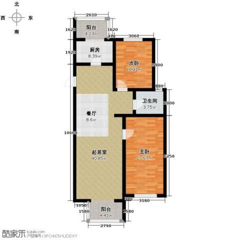 峰尚花园2室2厅1卫0厨116.00㎡户型图