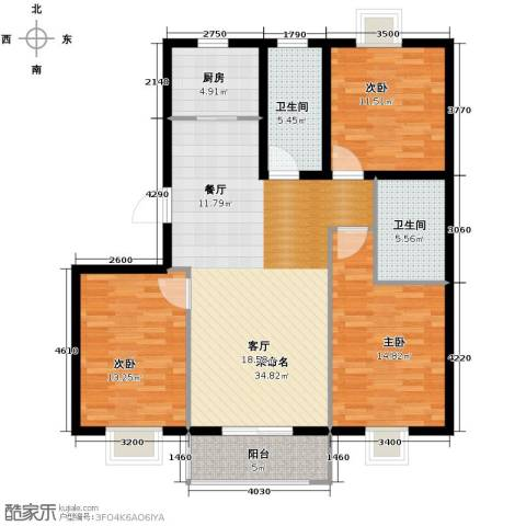 香格里拉尚城3室2厅2卫0厨123.00㎡户型图