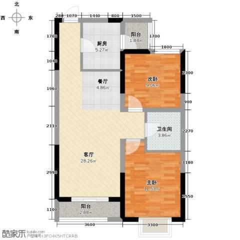 滨海智谛山2室1厅1卫0厨91.00㎡户型图