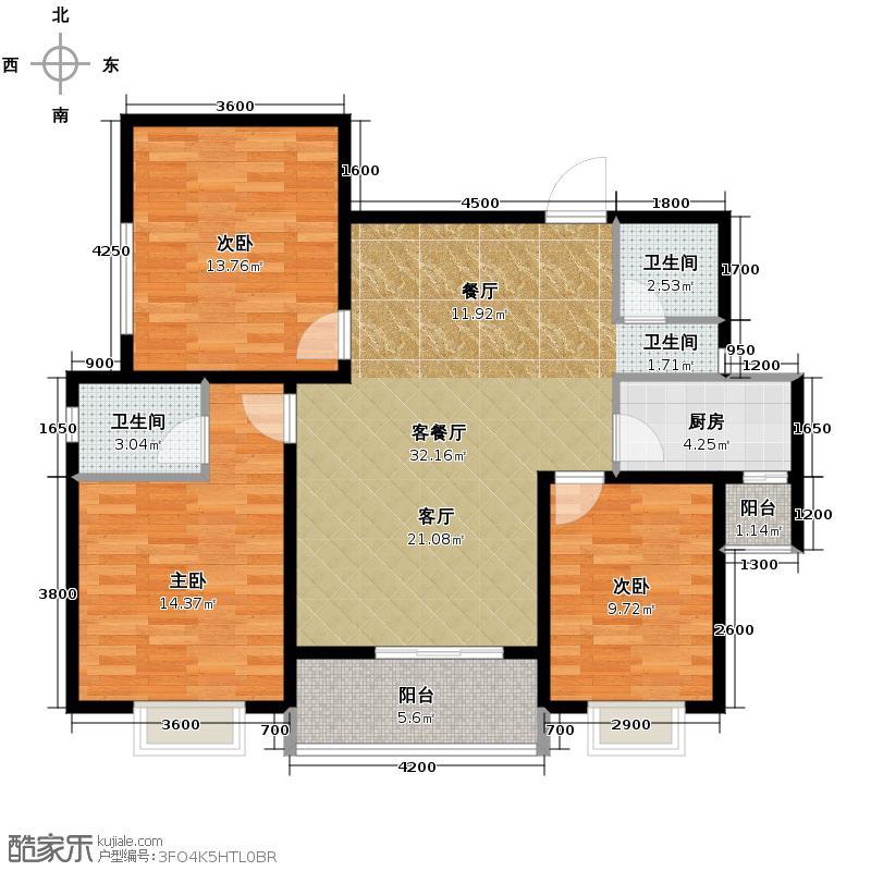 汉城湖一号114.64㎡B6c户型10室