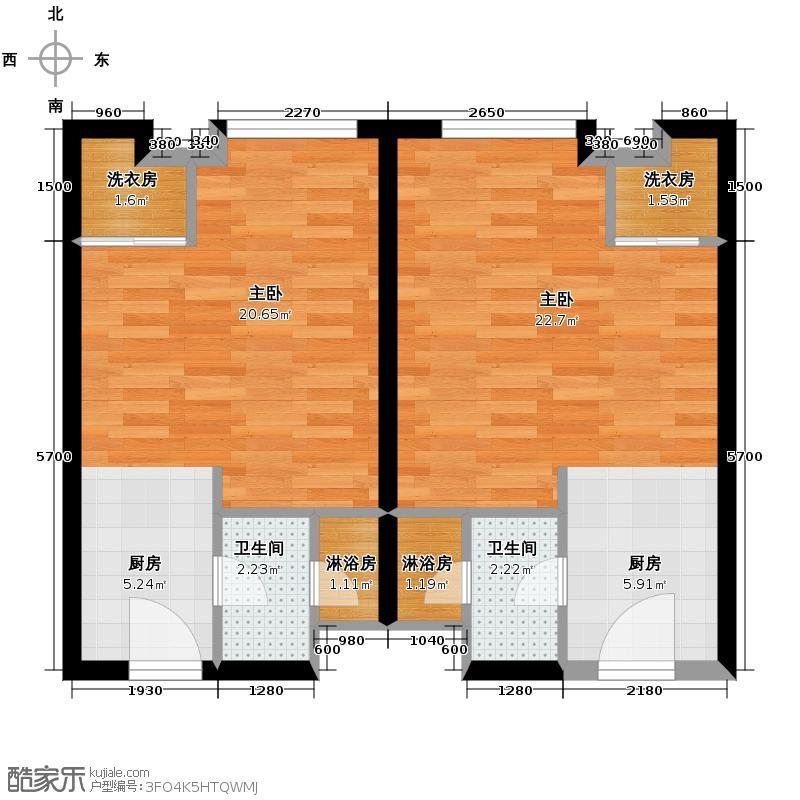 铂宫Ⅱ中山庭40.09㎡-4131/户型2室2卫