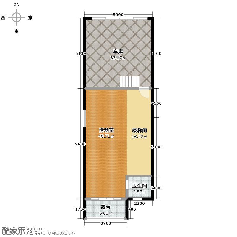 金科太阳海岸245.30㎡B负1层户型10室
