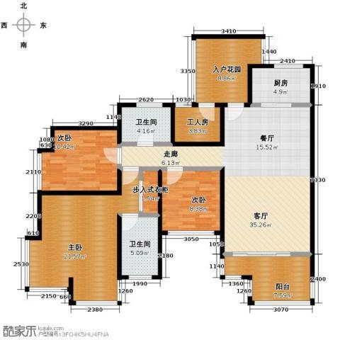 骏逸・第一江岸3室1厅2卫1厨159.00㎡户型图