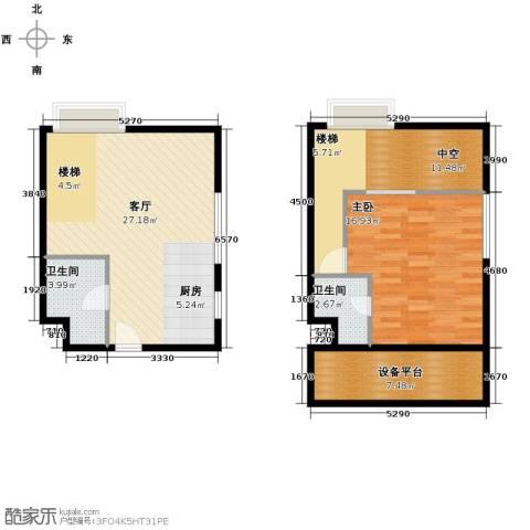 YOHO湾1室2厅1卫0厨69.73㎡户型图