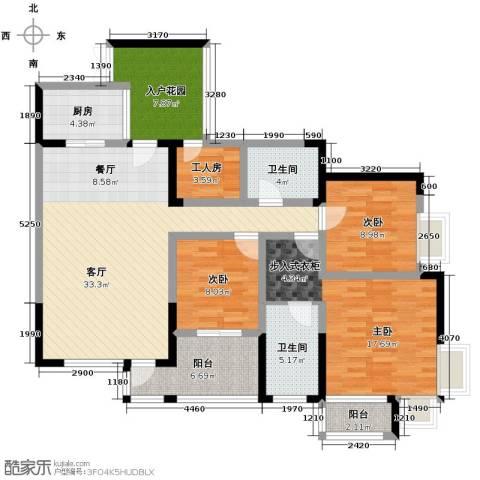 骏逸・第一江岸3室1厅2卫1厨149.00㎡户型图
