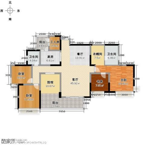 骏逸・第一江岸2室1厅2卫1厨209.00㎡户型图
