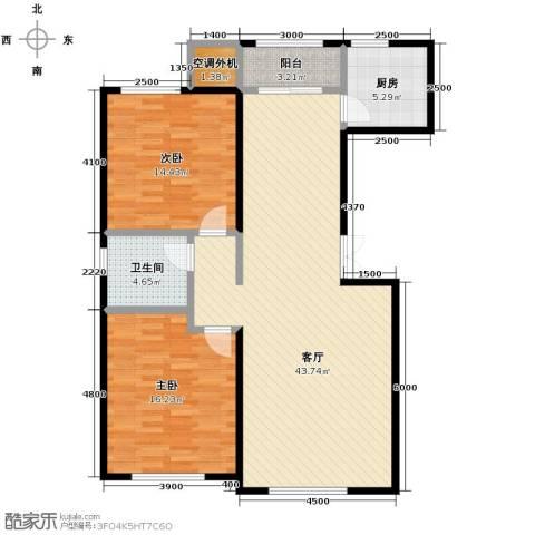 远洋城2室2厅1卫0厨116.00㎡户型图