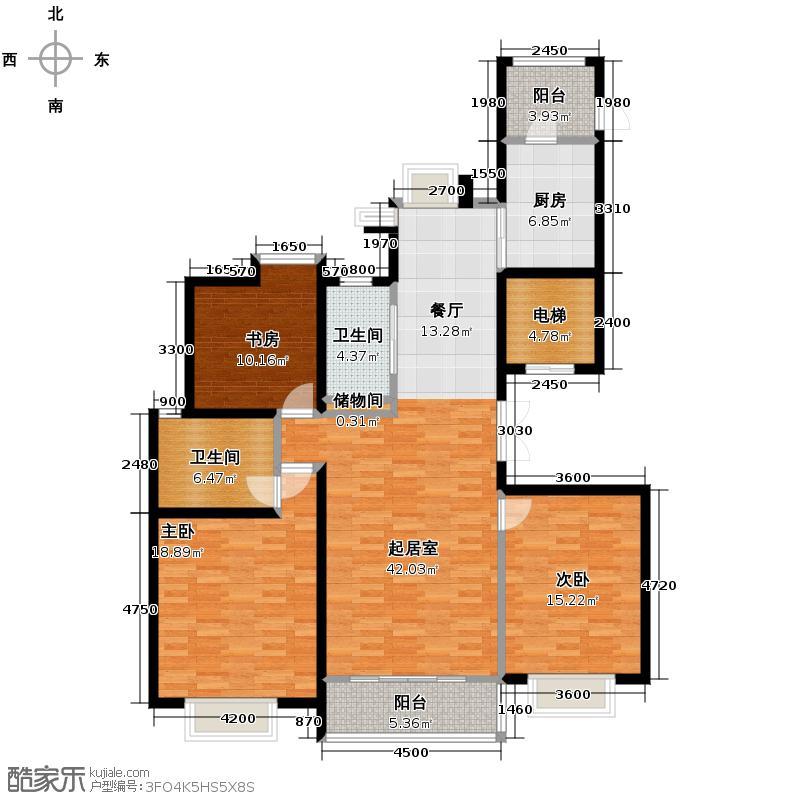 海河大道宽景公寓134.70㎡15号楼1门01户型10室