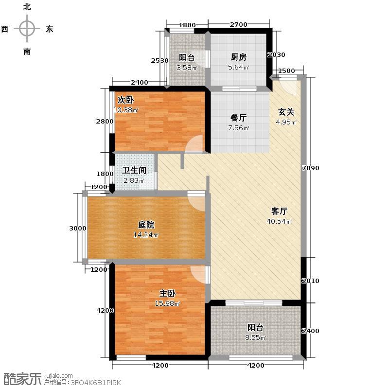 泰然南湖玫瑰湾114.87㎡户型10室