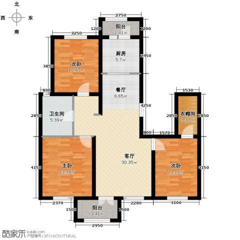 万通生态城新新家园3室2厅1卫0厨127.00㎡户型图