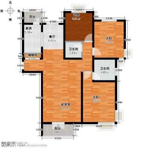 香水湾3室2厅2卫0厨132.00㎡户型图