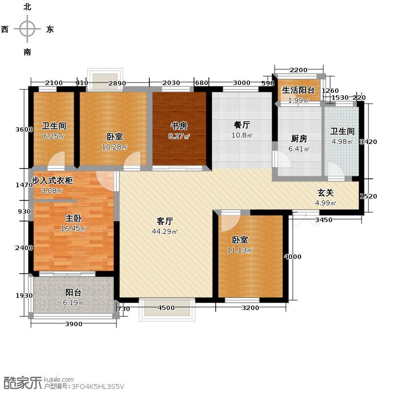 铭城16号163.70㎡3号楼A双阳台赠宽阔主卧南向客厅户型2室1厅2卫1厨