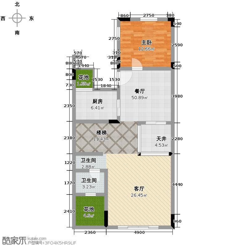 金科东方大院243.94㎡K一层平面图户型10室