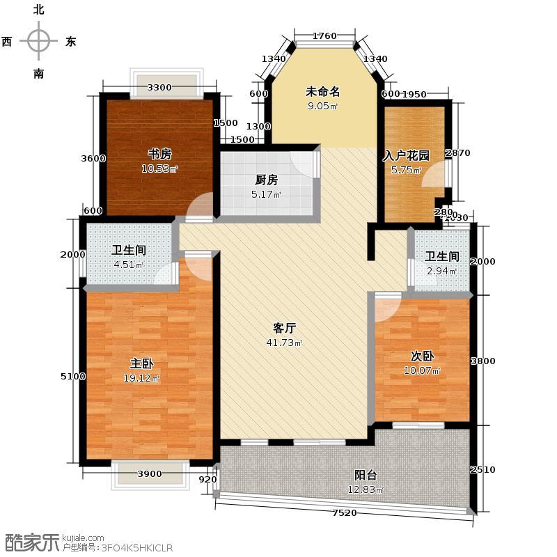 中建麓山和苑142.29㎡D2户型3室2厅2卫
