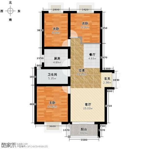 东尚观湖3室2厅1卫0厨116.00㎡户型图